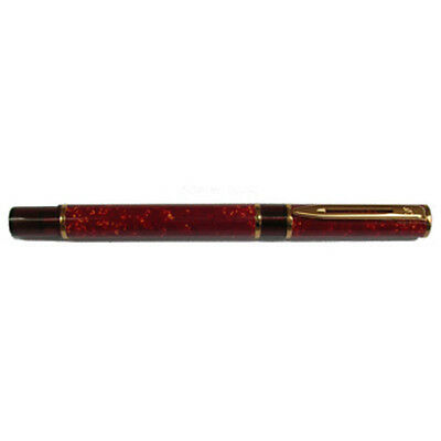 Waterman Laureat Bright Red Marble Rollerball Pen New In Box