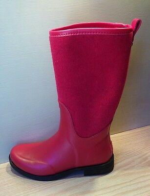 Ugg Reignfall Wool Synthetic Red Tall Rain Boots 1014455 Size 11 US