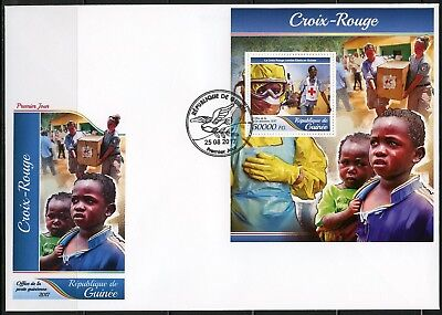 Guinea 2017 Red Cross  Souvenir Sheet First Day Cover