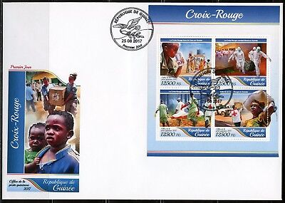 Guinea 2017 Red Cross Sheet First Day Cover