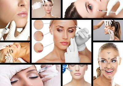 Botox injections Dermal fillers Collage Advertising Poster A2, A1, A0 sizes
