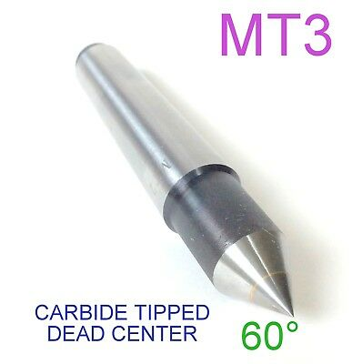 1 pc Lathe MT3 Carbide Dead Center  MORSE TAPER #3 /3MT Lathe Center