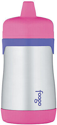Thermos Foogo Phases Leak Proof Stainless Steel Sippy Cup, 10 Ounce, Pink/Purple