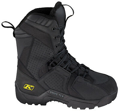 Klim Mens Black Arctic GTX Laced Snowmobile Boots Snow Snowcross