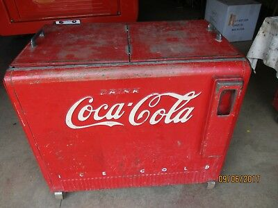 1941 Coke Chest Cooler Electric