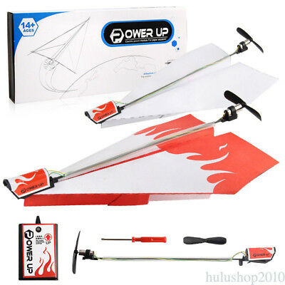 Create New Power up Electric Paper Airplane Conversion Kit Educational Toy FR5
