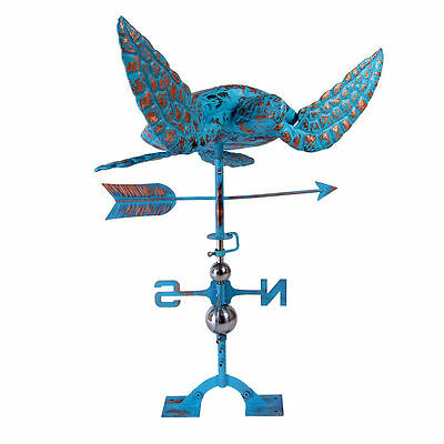 Sea Turtle Weathervane Copper Patinated Finish Weather Vane for Gard Handcrafted