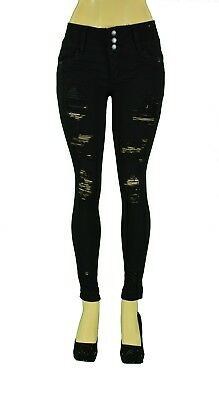 Stretch Push-Up colombian style Levanta Cola Ankel skinny jeans in Black 721T