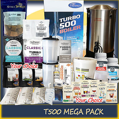 Turbo T500 Stainless Still System Mega Pack - Complete Home Brew Distillery