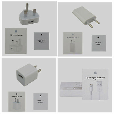 USB 5W Power Adapter+Lightning Cable For Apple iPhone 6 6S Plus 5S SE 5C
