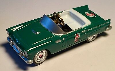 "TEXACO Skychief Green Ford T-Bird Die Cast Gearbox Collectibles 4"" Pedal Car"