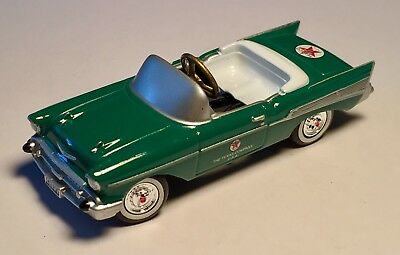 "TEXACO Gasoline 1957 Green Chevy Bel Air Die Cast Collectibles 4"" Pedal Car"