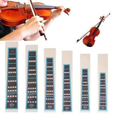 Violin Fiddle Finger Guide Practice Fingerboard Sticker 4/4 3/4 1/2 1/4 1/8 1/10