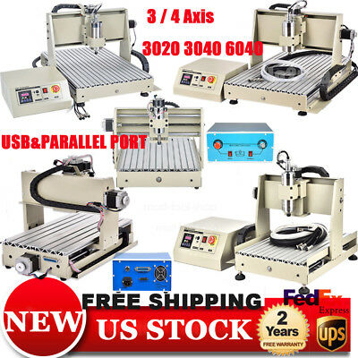 3/4 Axis 3040 6040 1500W CNC Router Engraver Engraving Milling Drilling Machine