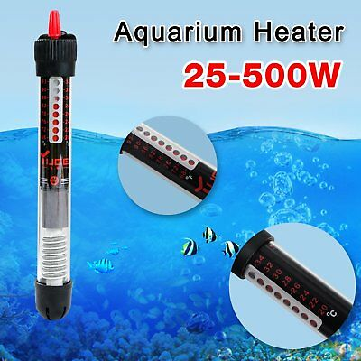 25-500W Aquarium Tropical Fish Tank Submersible Adjustable Water Heater