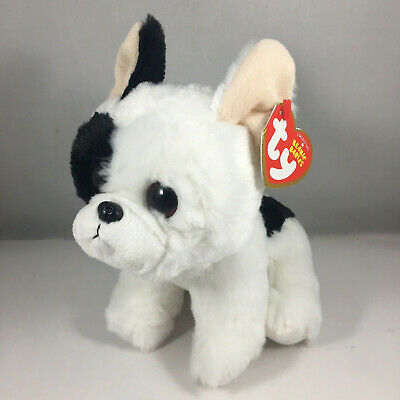 "Ty Beanie Baby Boo's 6"" Marcel French Bulldog Stuffed Animal Plush w/ Heart Tags"