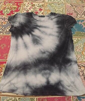 Brandy Melville Gray and Black Tie Dye Tee In OS