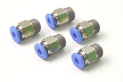 "5PCS Pneumatic Push in Connector 5/32"" OD Tube x 1/4"" Male NPT Thread Coupler"