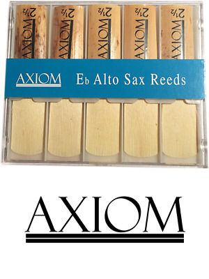 Axiom Alto Sax Reed 2.5 - Box of Ten Quality Saxophone Reeds