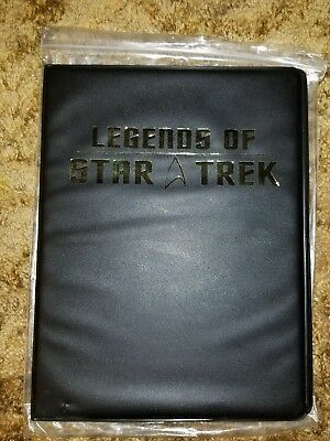 LEGENDS OF STAR TREK  FOIL STAMPED TRADING CARD ALBUM BINDER EMPTY pages NEW