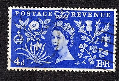 Great Britain 1953 Coronation 4d SG533 FINE USED R39283
