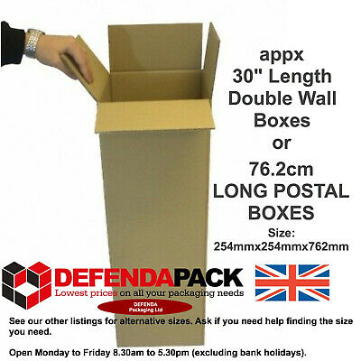 10 STRONG DOUBLE WALL Cardboard POSTAL POSTAGE BOXES 254mm 254mm 762mm DW3010