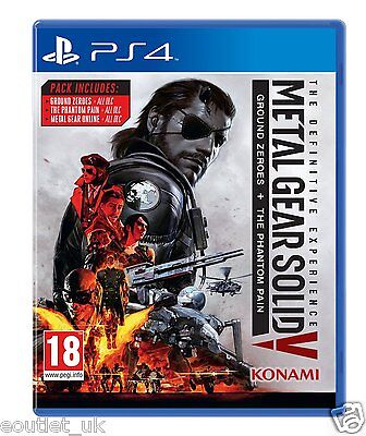 Metal Gear Solid V 5 PS4 The Definitive Experience for PlayStation 4 All DLC NEW