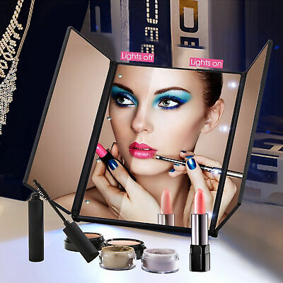 22 LED Light Portable Ajustable Vanity Lighted Makeup Mirror 10X Magnification