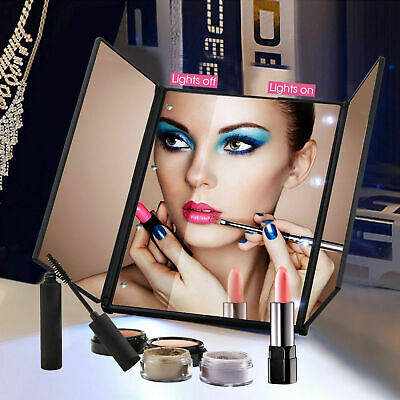 Touch Screen 22 LED Vanity 360° Makeup Mirror Light Tabletop 10X Magnification