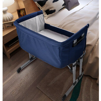 Crib Cot Sleeping Co Sleeper Bedside Convertible Stand + Canopy + Portable Bag