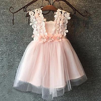 Baby Dress Party Lace Tulle Flower Girl Dresses Sundress Girls Wedding Dress