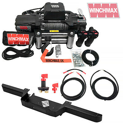 Land Rover Defender Winch + Winch Bumper + Wiring Kit + Isolator  Combo