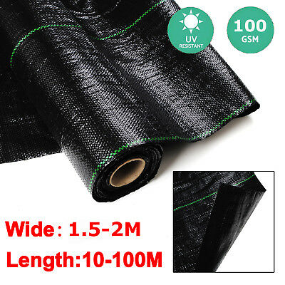 1.5M 2M 100gsm weed control fabric ground cover membrane landscapes mulch garden