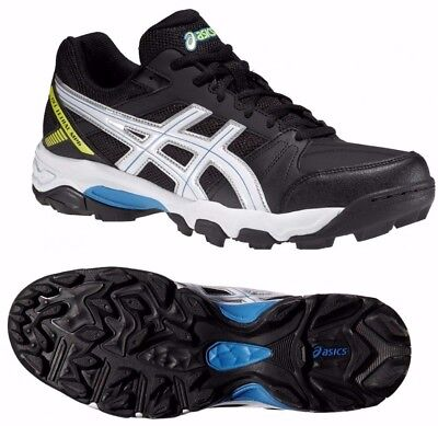 Mens asics Gel Lethal MP6 Black Synthetic Hockey Shoes Trainers Size UK 10.5 MP