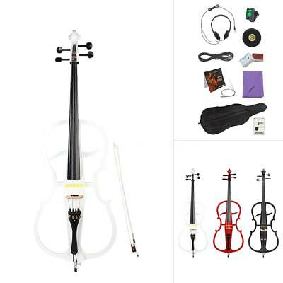 4/4 Full Size Electric Cello Violoncello Fittings in Style 1+uner+Gig Bag J6Q8