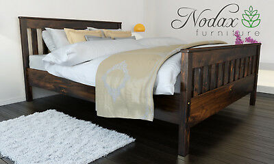 *NODAX* Sturdy Wooden Pine King Size Bed 5ft Wooden Bed Frame&Slats 'F16'