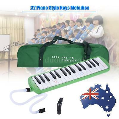 32 Keys Piano Style Melodica for Beginner Kids Children Green FREE SHIPPING