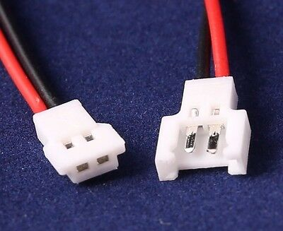 LOSI Micro T Connector Set with 200mm Wires (MCP-X) Male + Female UK Stock
