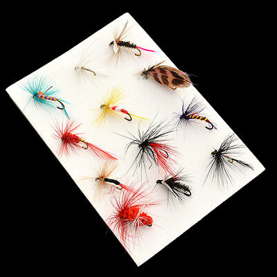 12Pcs Wet and Dry Soft Fishing Lures Small Minnow Lure Bass Crank Bait Tackle