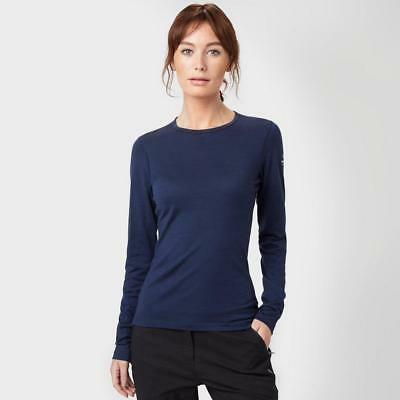 Navy Icebreaker Womens Oasis Crew Neck Baselayer Outdoor Clothing One Colour
