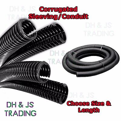 Flexible Corrugated Sleeving Convoluted Tubing - Split Conduit Cable Protection