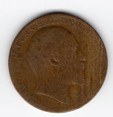 Great Britain Edward VII half penny 1/2d 1906 nice coin R37807