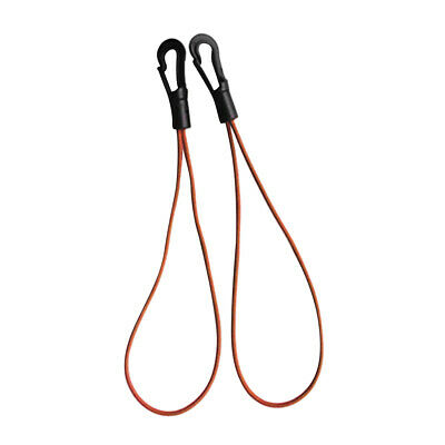 3mm Bungee Rope Elastic Shock Cord Loops with Quick Fit Plastic Hooks - Set of 2