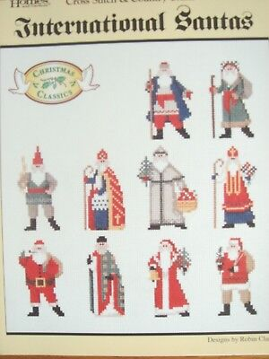 International Santas - Cross Stitch Leaflet - Christmas