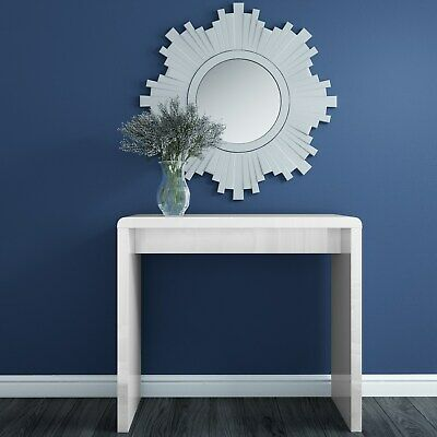 White High Gloss Narrow Console Table