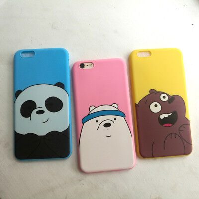 Cute Colorful Three Bears TPU Soft Back Case Cover For iPhone 5 5S 6 6S 7 Plus