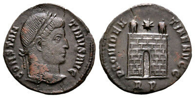 CONSTANTINE THE GREAT (324 AD) Scarce Follis. Rome #RB 9038