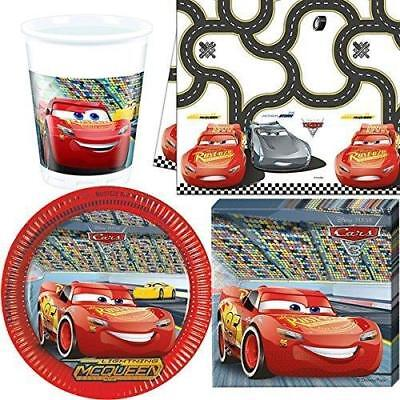 Disney Cars 3 Party Pack For 8 Guests 1 Table Cover 8 Cups 8 Plates 20 Napkin