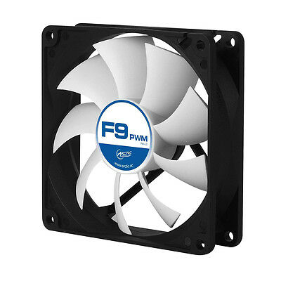 Lüfter 92mm PWM Arctic Cooling F9 PWM Lüfter Axiallüfter FAN 4 Pin 0,4 Sone