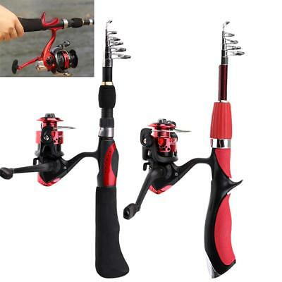 Carbon Fiber Telescopic Pole Portable Fishing Rod Reel Combos Spinning Reels